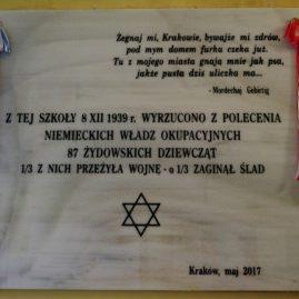 Odsłonięcie tablicy pamiątkowej w Gimnazjum im. Adama Mickiewicza